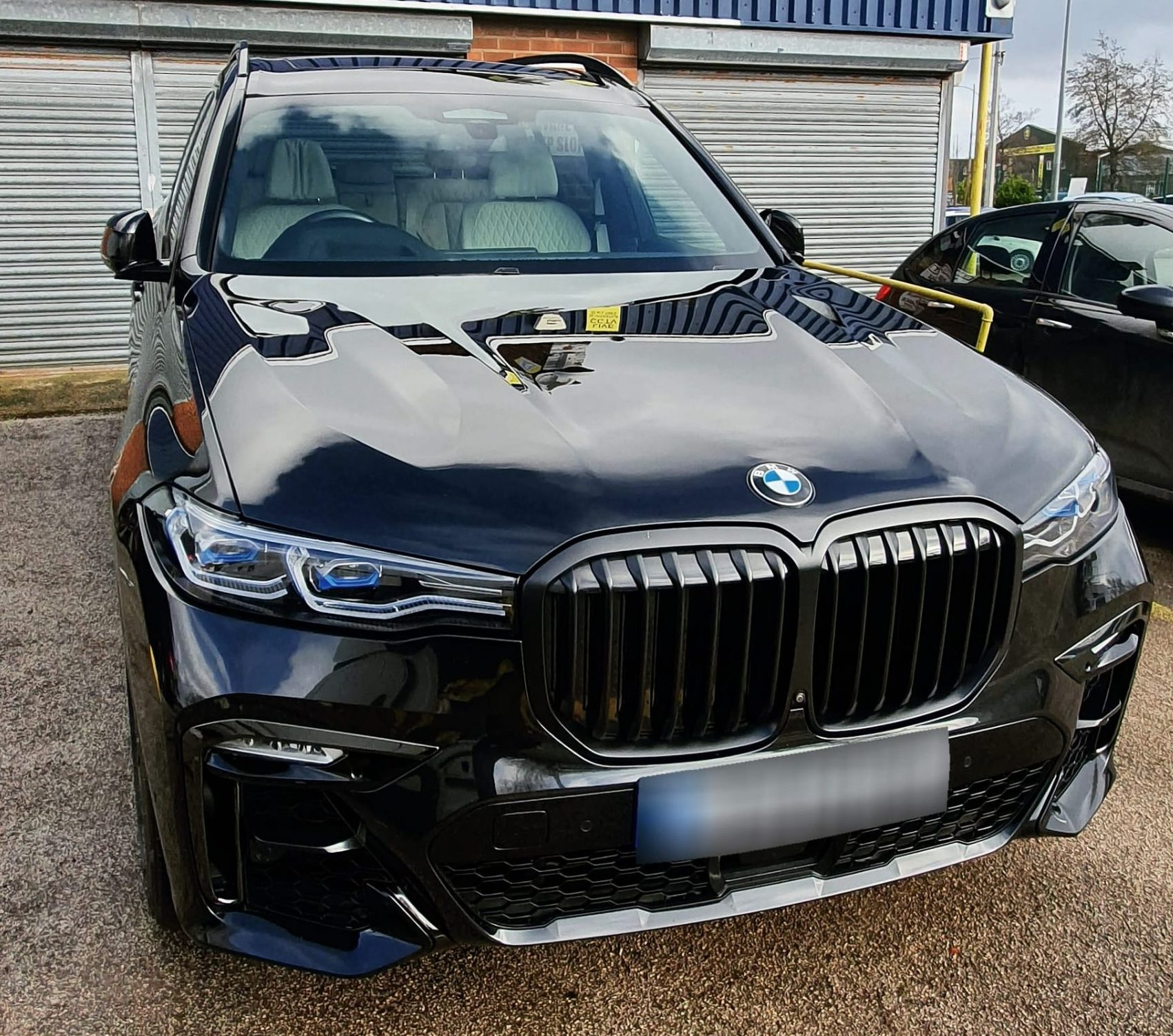 Glossy Black BMW Exterior Clean